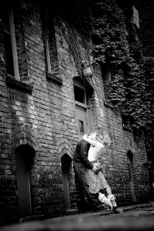 Award winning minneapolis black and white engagement photo