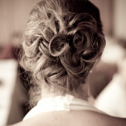 Brides hair at the Tournament Players Club in Blaine MN
