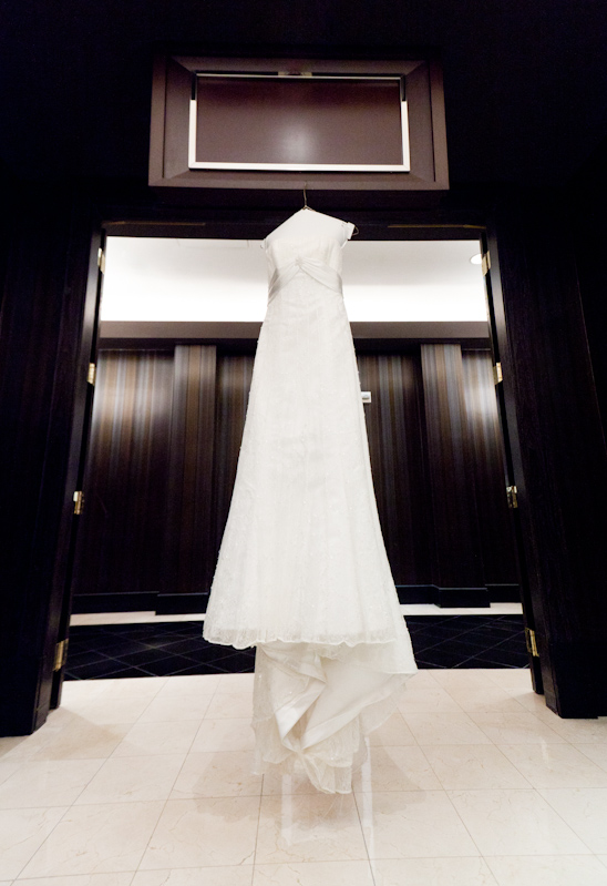 Photo Of Wedding Dress Hanging On A Hanger At The Cosmopolitan In Las Vegas NV