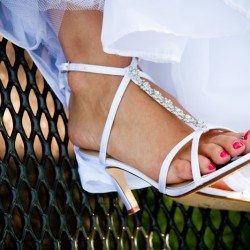 Wedding shoes by Minneapolis wedding photographer